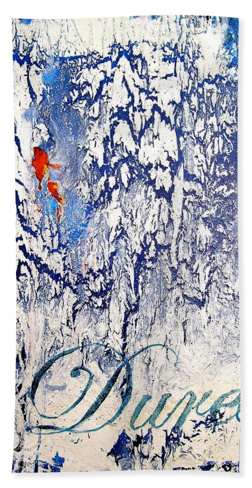 Abstract Art Bath Sheet featuring the painting Duress by Laura Pierre-Louis