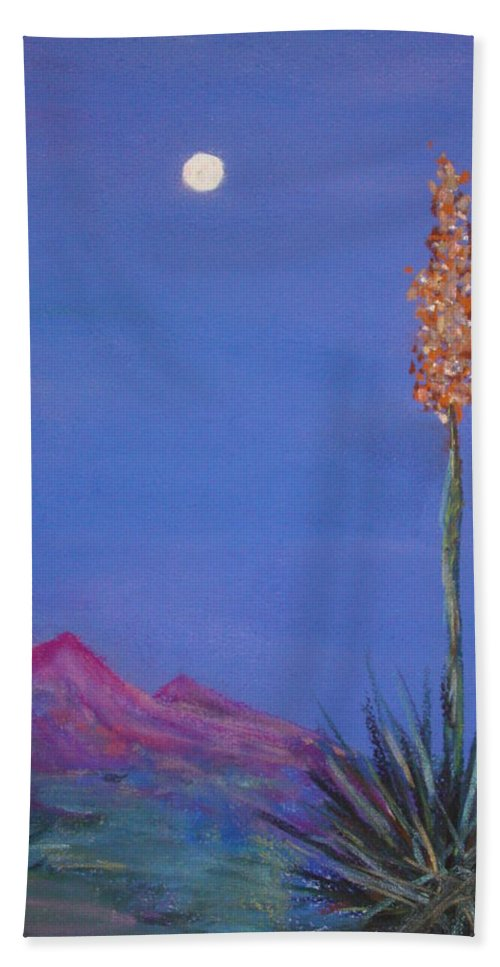 Evening Bath Sheet featuring the painting Dusk by Melinda Etzold