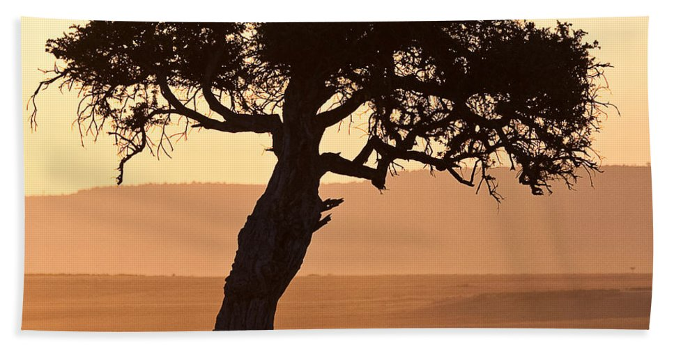 Africa Hand Towel featuring the photograph Dusty Sunset Over The Mara by Colette Panaioti