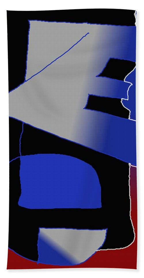 Eu Bath Towel featuring the digital art E-likes-eu by Helmut Rottler