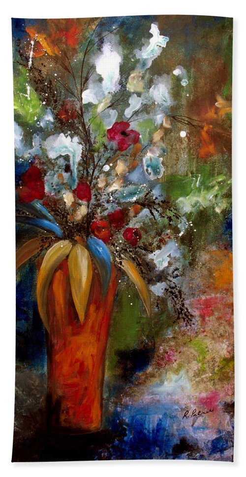 Botanical Bath Sheet featuring the painting Each Day Is A New Beginning by Ruth Palmer