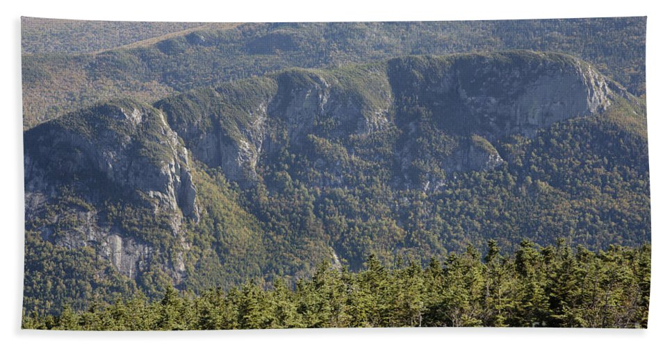 Franconia Notch State Park Bath Sheet featuring the photograph Eagle Cliff - Franconia Notch State Park New Hampshire by Erin Paul Donovan