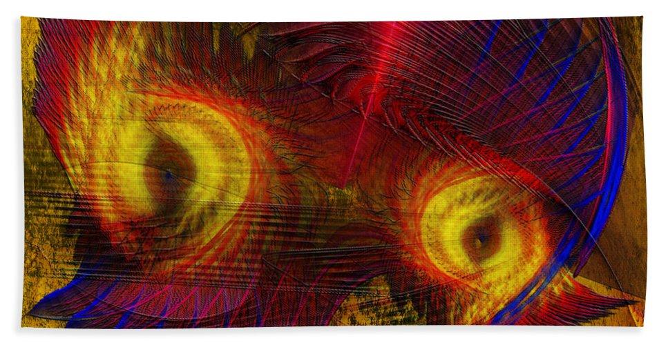 Eagle Eyes Hand Towel featuring the digital art Eagle Eyes by John Beck