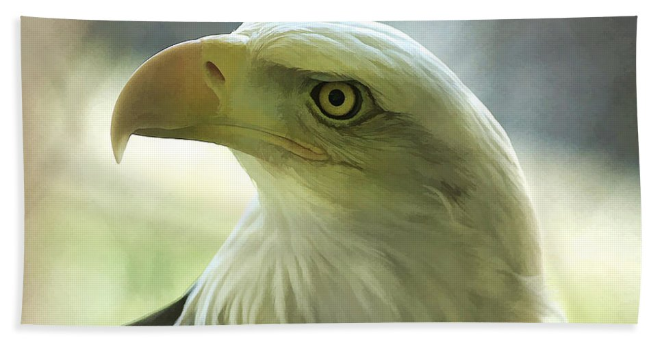 Eagle Hand Towel featuring the photograph Eagle Majesty by Deborah Benoit