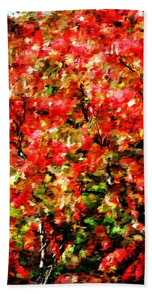 Abstract Digital Photo Hand Towel featuring the photograph Early Color Painting by David Lane