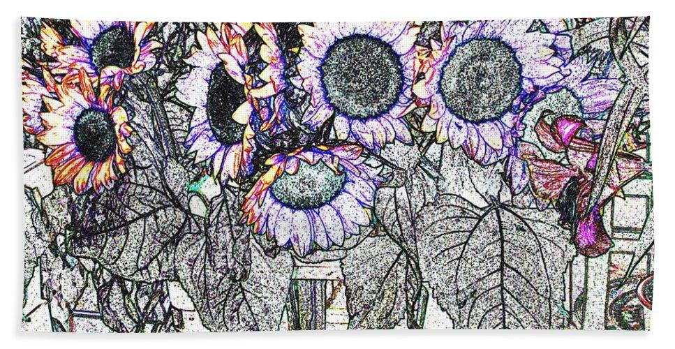 Flower Hand Towel featuring the digital art Early Flower Study by Ian MacDonald