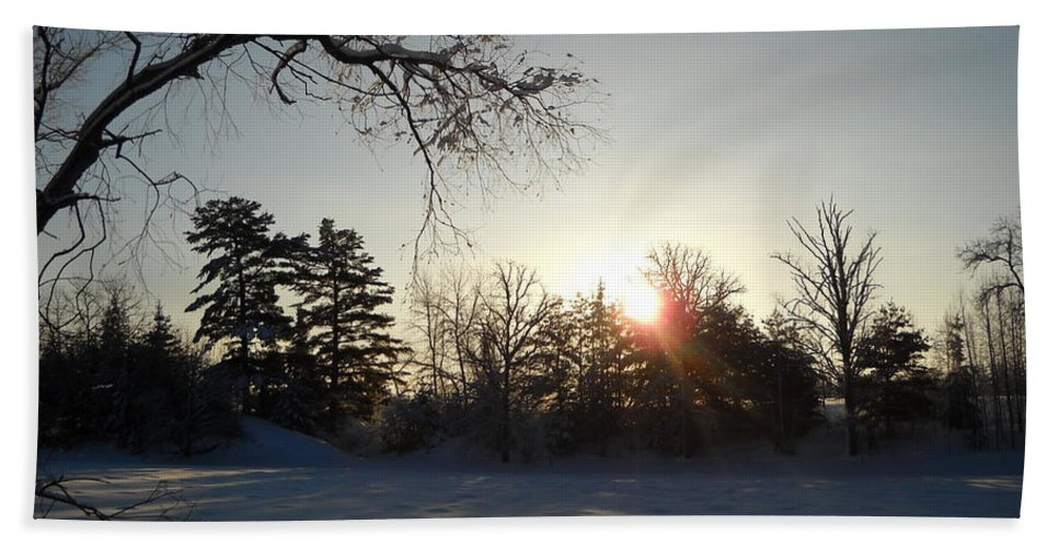 January Hand Towel featuring the photograph Early January Winter Sunrise by Kent Lorentzen