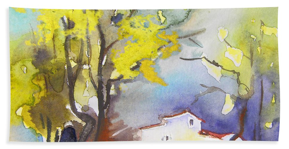 Watercolour Hand Towel featuring the painting Early Morning 09 by Miki De Goodaboom
