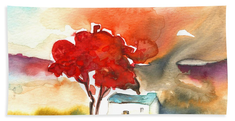 Landscapes Hand Towel featuring the painting Early Morning 22 by Miki De Goodaboom