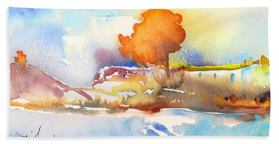 Landscapes Bath Sheet featuring the painting Early Morning 24 by Miki De Goodaboom