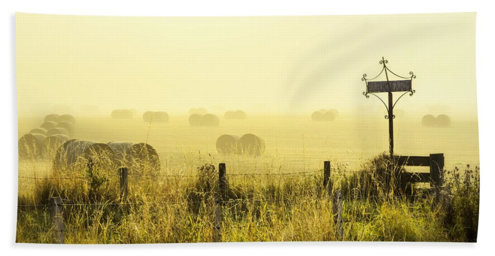 Sony Hand Towel featuring the photograph Early Morning At The Farm by Jeremy Lavender Photography
