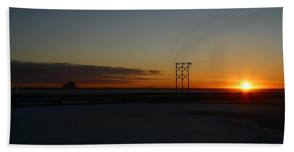 Sunrise Bath Sheet featuring the photograph Early Morning Sunrise by Anthony Jones