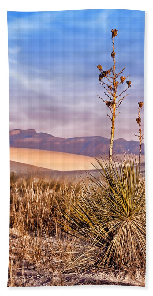 Desert Hand Towel featuring the photograph Early Morning Yucca - White Sands - New Mexico by Nikolyn McDonald