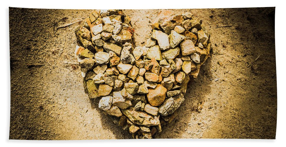 Heart Hand Towel featuring the photograph Earthly Togetherness by Jorgo Photography - Wall Art Gallery