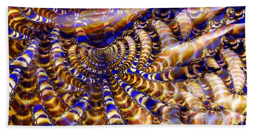 Gathering Bath Sheet featuring the digital art Earthworm Gathering by Ron Bissett