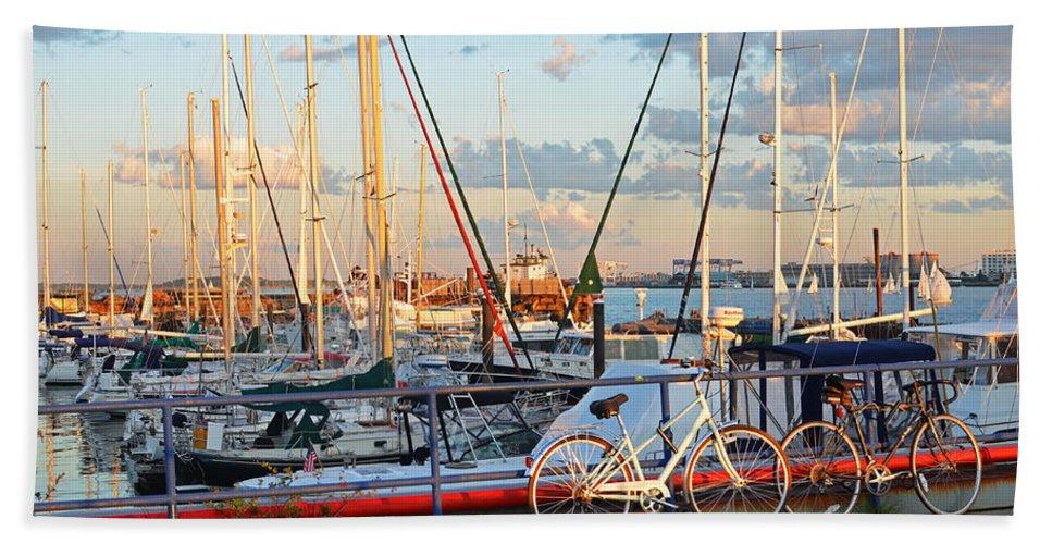 East Boston Boats Boston Ma Piers Point Park Bath Towel