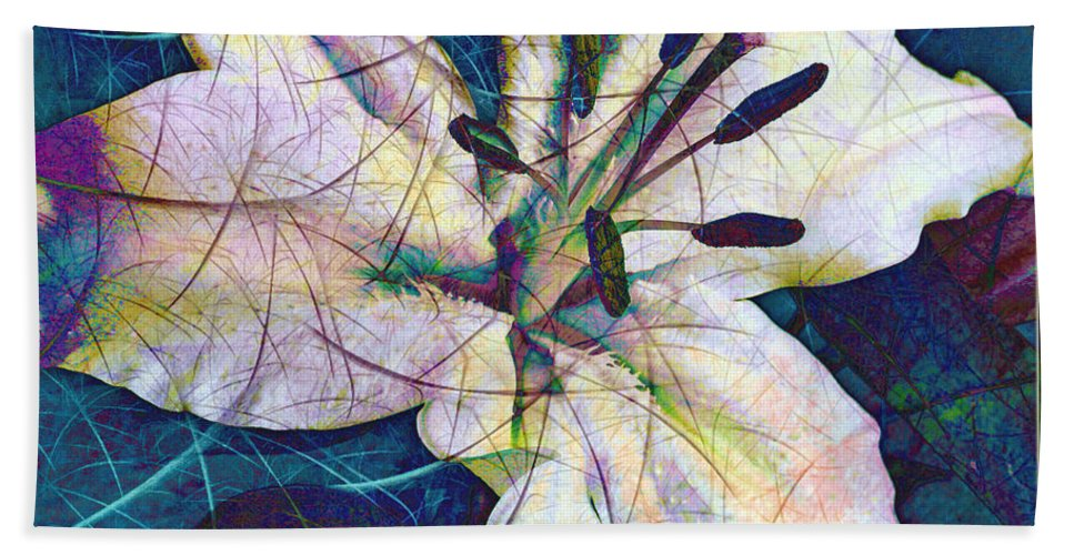 Easter Bath Sheet featuring the digital art Easter Lily by Barbara Berney