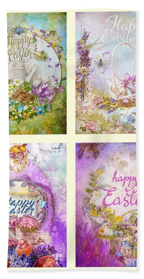 Easter Mood Bath Sheet featuring the painting Easter Mood Collection by Mo T