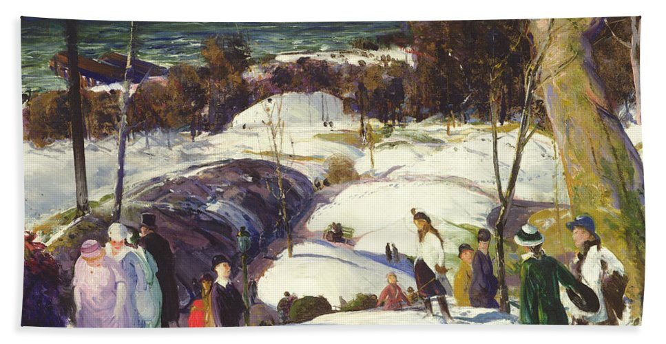 Easter Snow Hand Towel featuring the painting Easter Snow by George Wesley Bellows