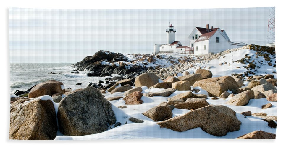 Gloucester Hand Towel featuring the photograph Eastern Point Light II by Greg Fortier