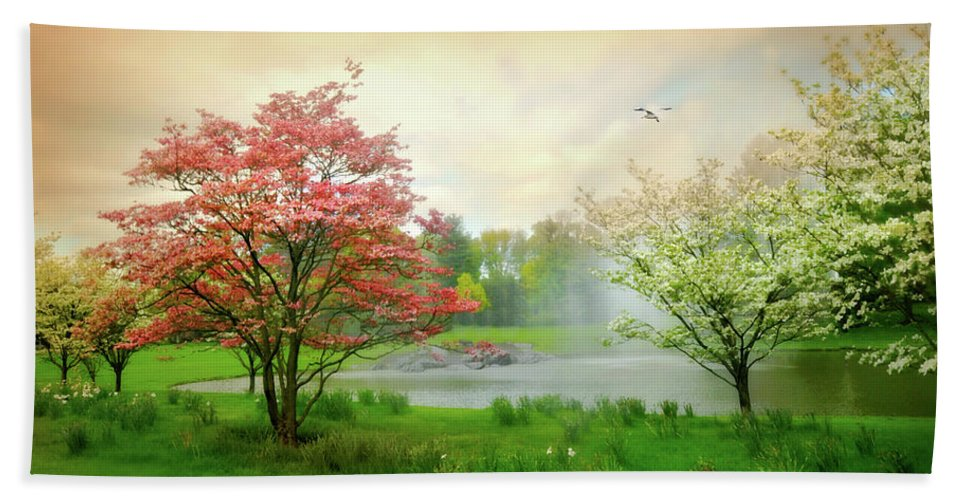 Easy On Life Bath Sheet featuring the photograph Easy On Life by Diana Angstadt