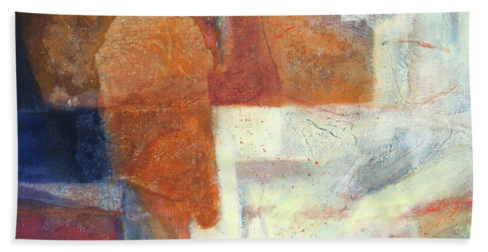 Acrylic Bath Sheet featuring the mixed media Ebb And Flow by Lynne Reichhart