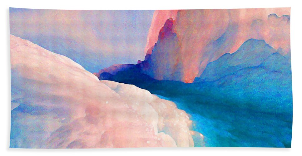 Abstract Bath Sheet featuring the photograph Ebb And Flow by Steve Karol