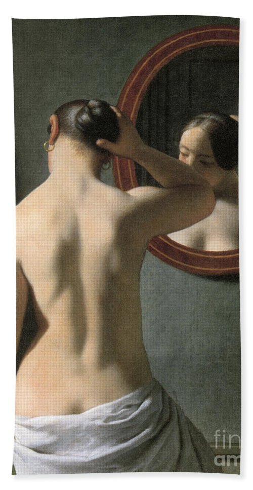 1837 Hand Towel featuring the photograph Eckersberg: Nude, C1837 by Granger
