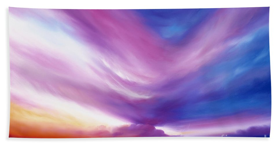 Clouds Bath Towel featuring the painting Ecstacy by James Christopher Hill