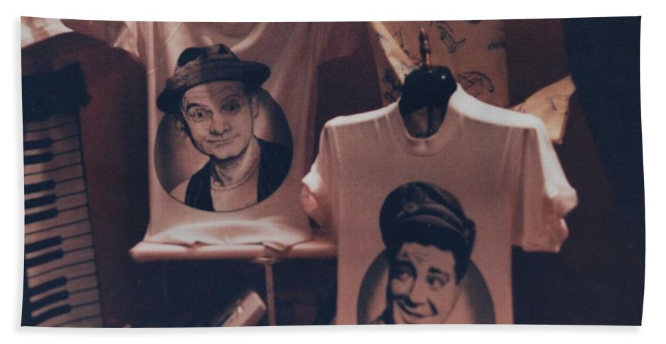The Honeymooners Hand Towel featuring the photograph Ed And Ralphie Boy by Rob Hans