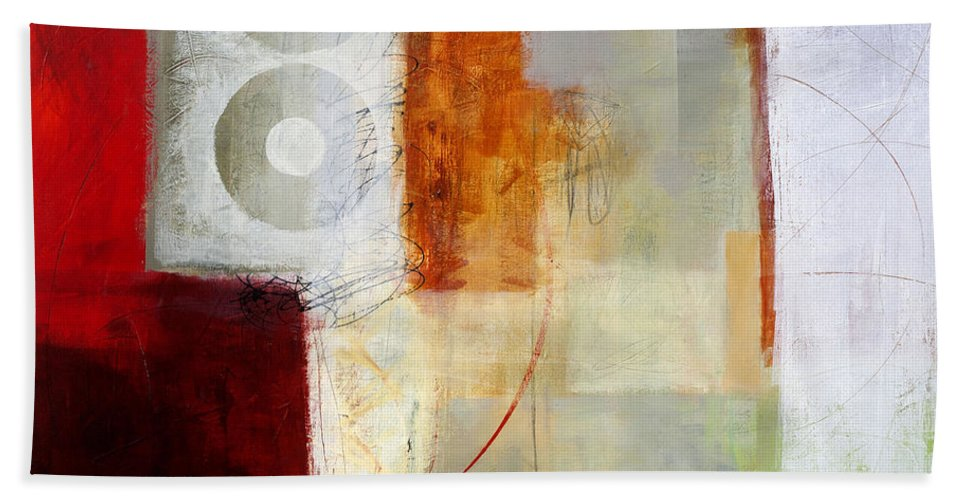 Abstract Art Bath Sheet featuring the painting Edge Location 12 by Jane Davies