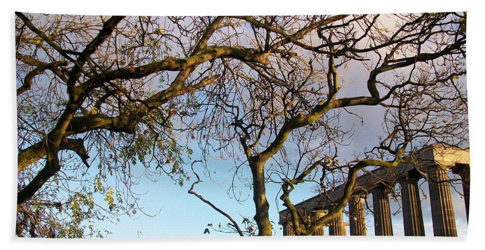 Scotland Hand Towel featuring the photograph Edinburgh - Caption Hill Trees by Munir Alawi