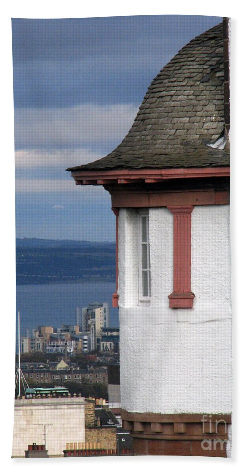 Scotland Hand Towel featuring the digital art Edinburgh Scotland by Amanda Barcon