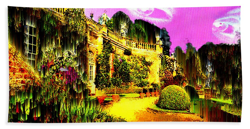 Mansion Hand Towel featuring the digital art Eerie Estate by Seth Weaver