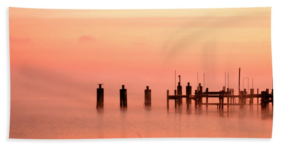 Clay Bath Towel featuring the photograph Eery Morn by Clayton Bruster