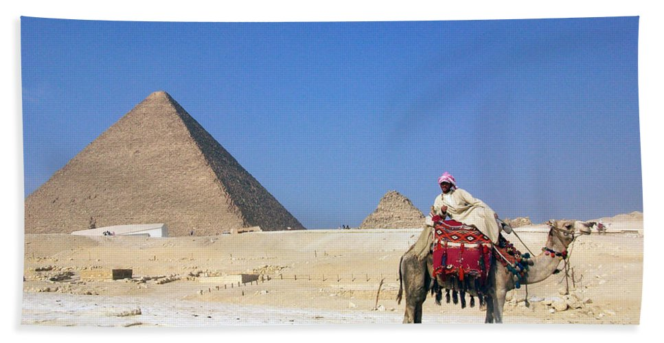 Egypt Hand Towel featuring the photograph Egypt - Pyramid by Munir Alawi