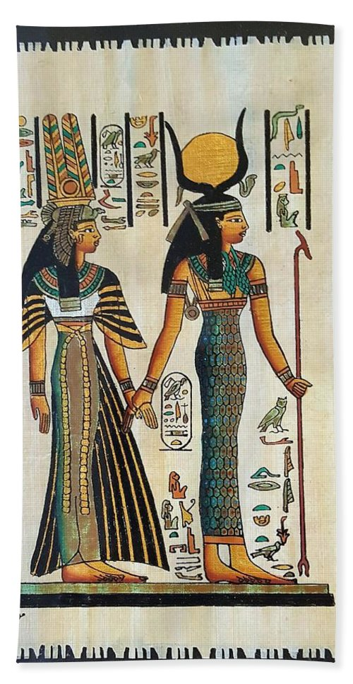 Temple Of Horus Hand Towel featuring the photograph Egyptian Papyrus by Rob Hans