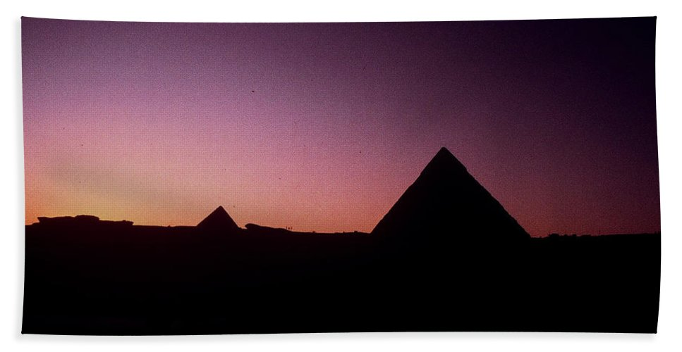 Egypt Bath Sheet featuring the photograph Egyptian Sunset by Gary Wonning
