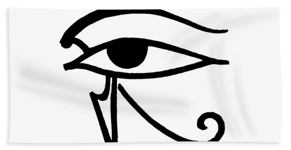 Egyptian Hand Towel featuring the digital art Egyptian Utchat by Granger
