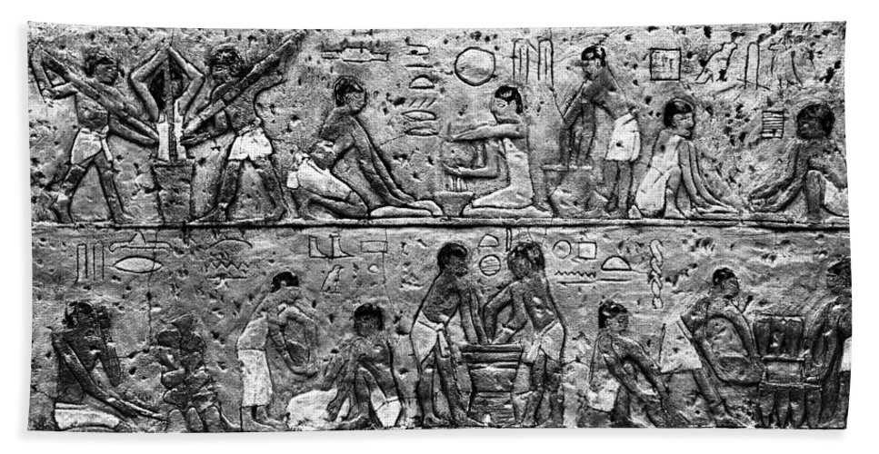Egyptian Hand Towel featuring the photograph Egyptian Writing by David Lee Thompson