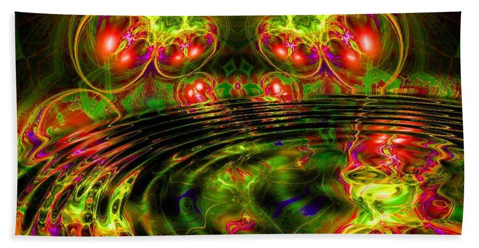 Green Bath Sheet featuring the digital art Einstein's Dream by Robert Orinski