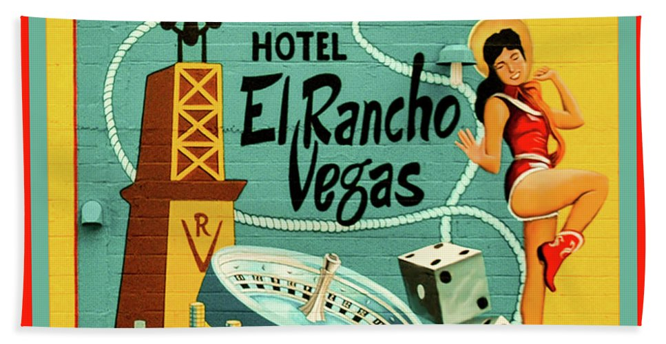 Vegas Hand Towel featuring the photograph El Rancho by Jeff Burgess