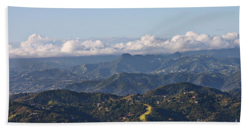 Mountains Hand Towel featuring the photograph El Yunque Way by Gilbert
