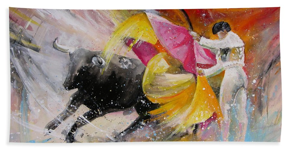 Animals Bath Towel featuring the painting Elegance by Miki De Goodaboom