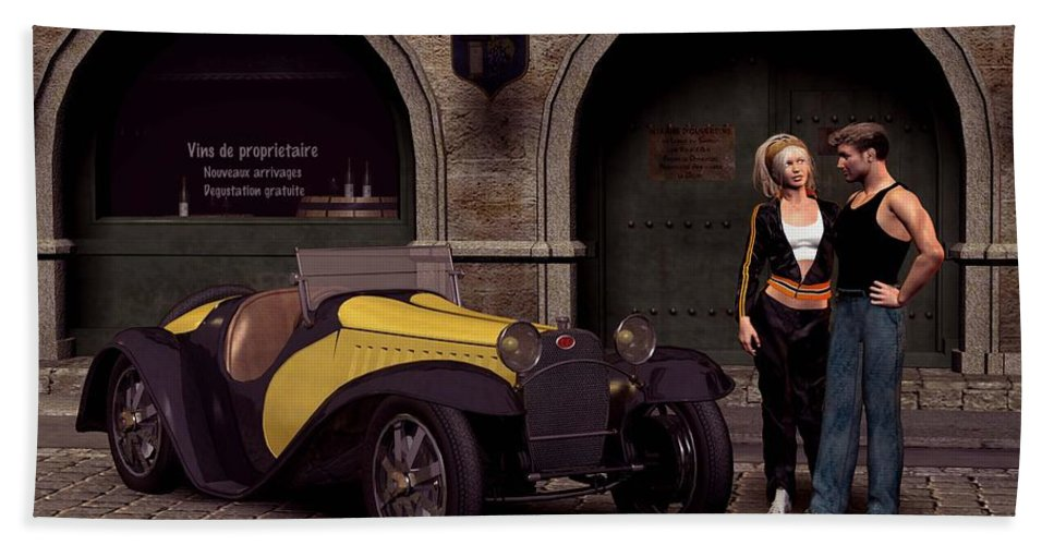 Cars Bath Towel featuring the digital art Elegant 1930 by John Junek