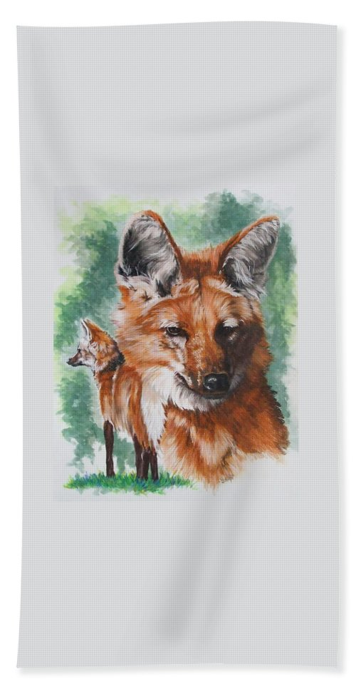 Canine Hand Towel featuring the mixed media Elegant by Barbara Keith