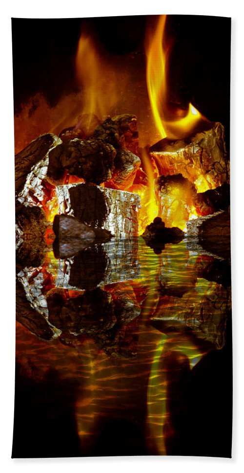 H2o Hand Towel featuring the photograph Element Reflections by Tom Gowanlock
