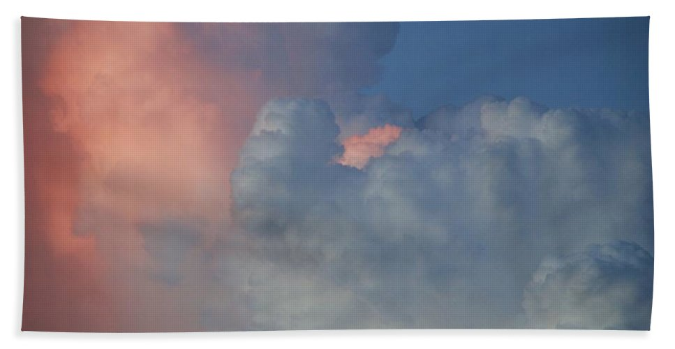 Clouds Hand Towel featuring the photograph Elephant In The Sky by Rob Hans
