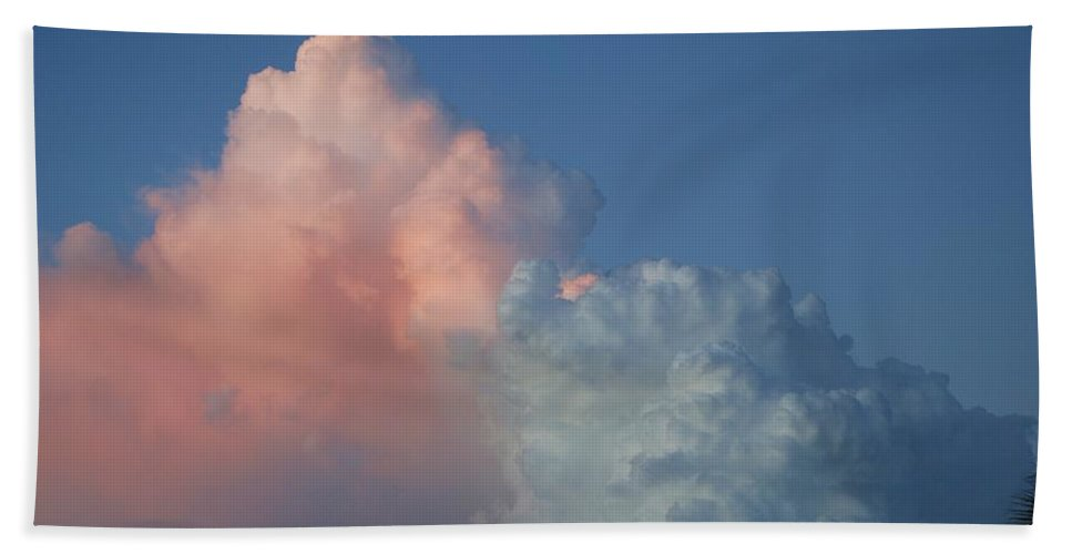 Clouds Hand Towel featuring the photograph Elephants Clouds by Rob Hans