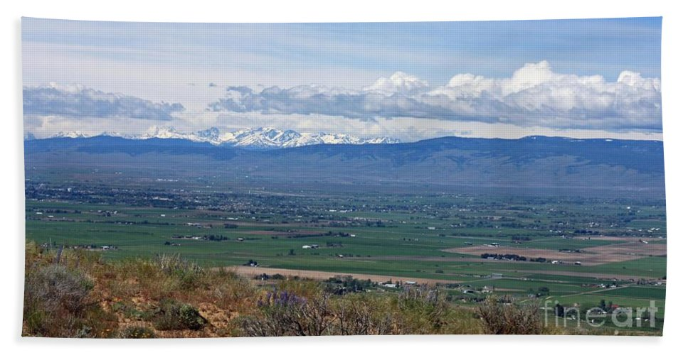 Ellensburg Bath Sheet featuring the photograph Ellensburg Valley With Sagebrush And Lupine by Carol Groenen